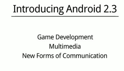 android 2.3 feature