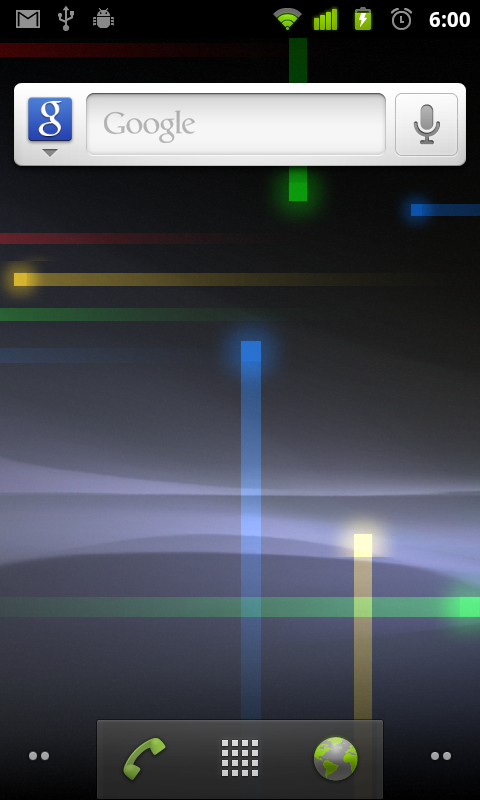 android 2.3 homescreen
