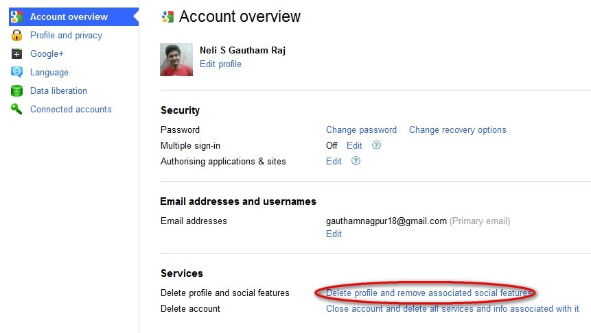 how to delete you google plus accounts