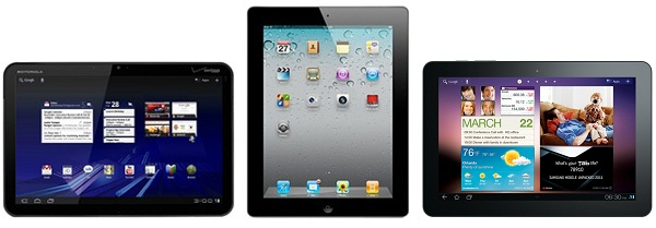 galaxy tab 10.1 vs xoom vs ipad 2