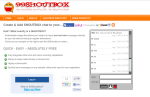 How to add chat box to website using 99 Shoutbox