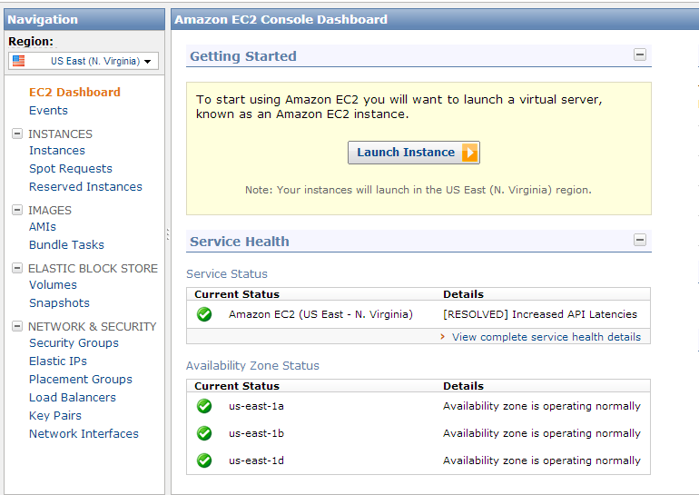 ec2 launch instance