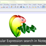 notepad++ search